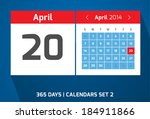 20 april vector day calendar ...