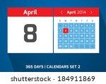 8 april vector day calendar ...