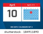 10 april vector day calendar ...
