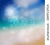 background for summer design.  | Shutterstock .eps vector #184911914