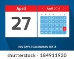 27 april vector day calendar ...