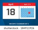 18 april vector day calendar ...