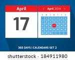 17 april vector day calendar ...