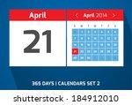 21 april vector day calendar ...