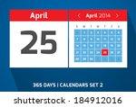 25 april vector day calendar ...