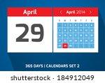 29 april vector day calendar ...