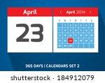 23 april vector day calendar ...