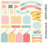 banners and elements. templates.... | Shutterstock .eps vector #184914803