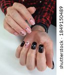 Beautiful Black And Pink Gel...