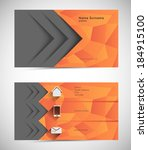 abstract mosaic business card... | Shutterstock .eps vector #184915100