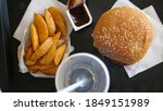 Fast Food Menu With Burger...
