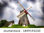 Windmill Farm In Gloomy Day