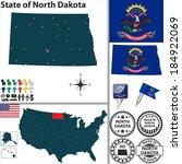 vector set of north dakota...   Shutterstock .eps vector #184922069