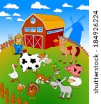 farmer on his small farm with...