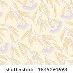 seamless pattern of  spring... | Shutterstock .eps vector #1849264693
