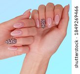 Beautiful Pink Manicure With...