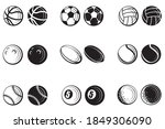 monochrome collection of... | Shutterstock .eps vector #1849306090
