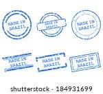 made in brazil stamps | Shutterstock .eps vector #184931699