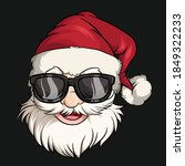 Christmas Santa Claus Face With ...