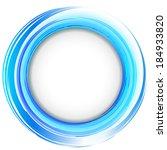 vector. round frame. blue... | Shutterstock .eps vector #184933820