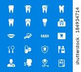 dental flat icons | Shutterstock .eps vector #184934714
