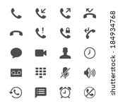 telephone flat icons | Shutterstock .eps vector #184934768