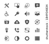 setting flat icons | Shutterstock .eps vector #184934834
