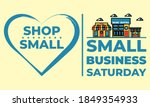 small business saturday is an... | Shutterstock .eps vector #1849354933
