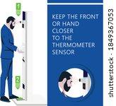 kiosk for temperature measuring ...   Shutterstock .eps vector #1849367053