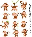 Happy Monkey Cartoon Collectio...
