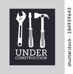 tools design over gray... | Shutterstock .eps vector #184939643