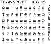 transport icons | Shutterstock .eps vector #184941938