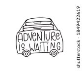 adventure is waiting. hand... | Shutterstock .eps vector #1849422619