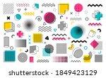 geometric shapes big set....   Shutterstock .eps vector #1849423129