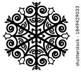 Round Ornament  Mandala....