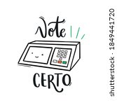 vote certo. vote right.... | Shutterstock .eps vector #1849441720