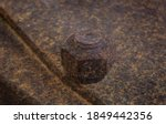 Old Rusty Large Metal Nut And...