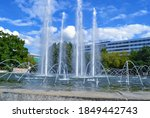 Fountain And Blue Sky During...