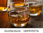 Alcoholic Amber Whiskey Bourbo...