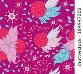 colorful floral seamless... | Shutterstock .eps vector #184947203