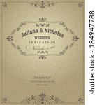 wedding invitation cards ... | Shutterstock .eps vector #184947788