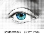 abstract blue woman eye made... | Shutterstock .eps vector #184947938
