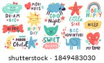 cute kids lettering. nursery... | Shutterstock .eps vector #1849483030