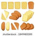 cartoon toasts. breakfast... | Shutterstock .eps vector #1849483300
