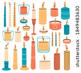 burning candles. wax aromatic... | Shutterstock .eps vector #1849483630