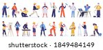 different professions and... | Shutterstock .eps vector #1849484149