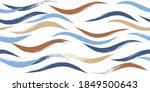 seamless wave pattern  hand...   Shutterstock .eps vector #1849500643