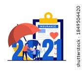 insurance resolutions for new... | Shutterstock .eps vector #1849504420