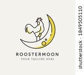 Rooster Moon Logo Vector Design ...