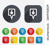 map pointer user sign icon.... | Shutterstock .eps vector #184950839